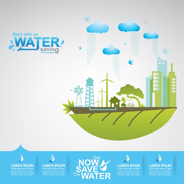 Save the water concept l'acqua è vita