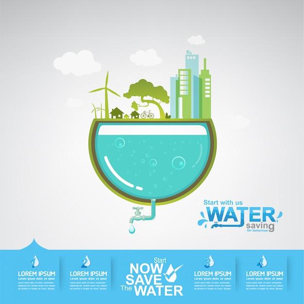 Save the water concept l'acqua è vita