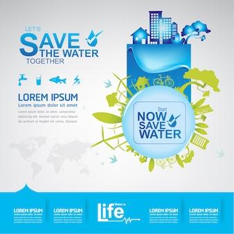 Save the water vector l'acqua è vita