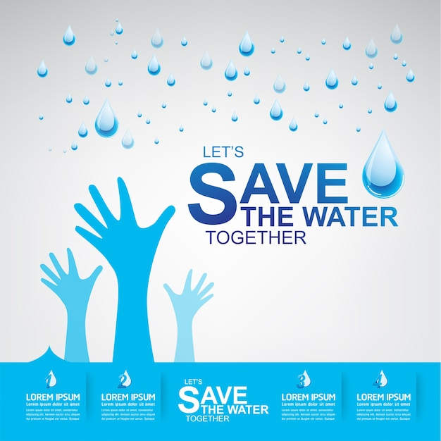 Save the water vector l'acqua è vita