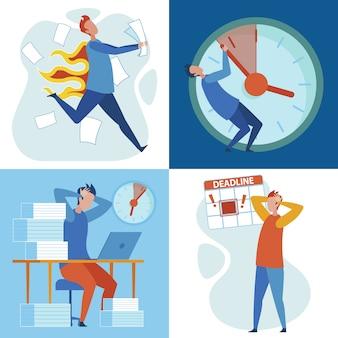 Scadenza del carico di lavoro, stress e burnout legati al lavoro