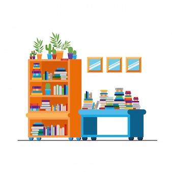 Scaffalature con libri