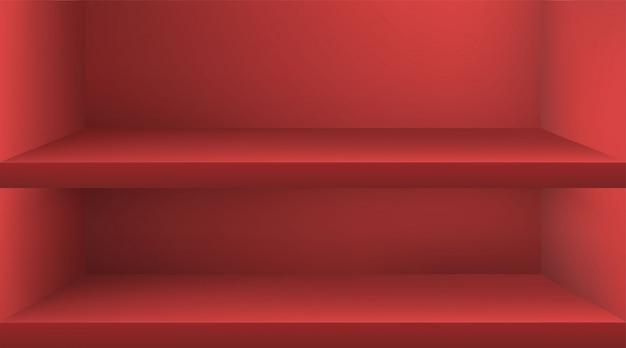 Scaffale colore vuoto con ombra