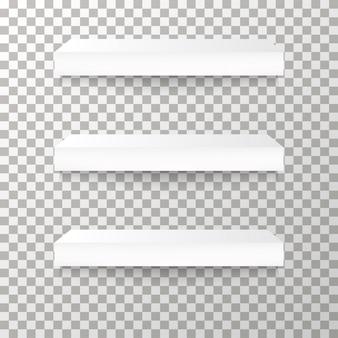 Scaffali sullo sfondo trasparente vector.