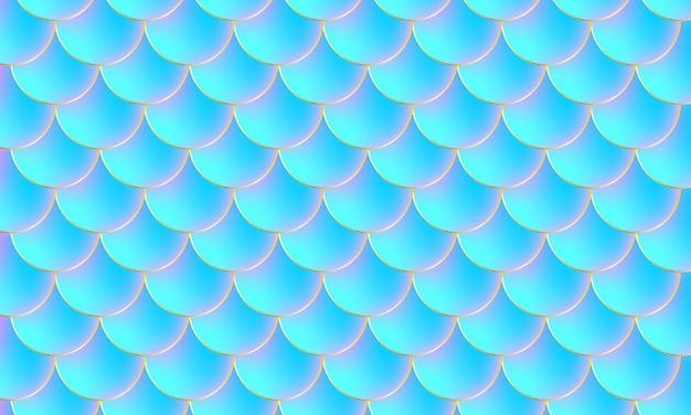 Scaglie di sirena. squama di pesce. modello di scala.