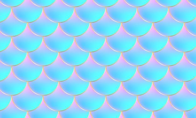 Scaglie di sirena. squama di pesce. modello in scala.