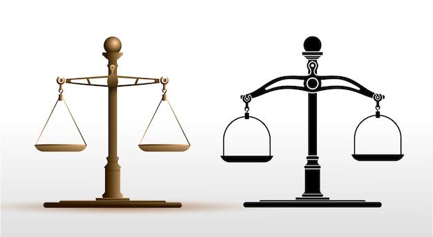 Scale di giustizia impostate