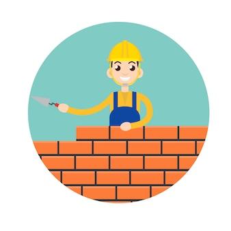 Scalpellino, icona personaggio in muratura
