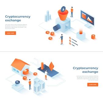 Scambio di criptovalute e composizioni blockchain
