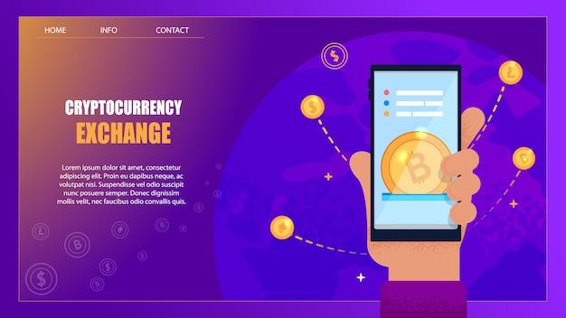 Scambio di cryptocurrency su denaro reale