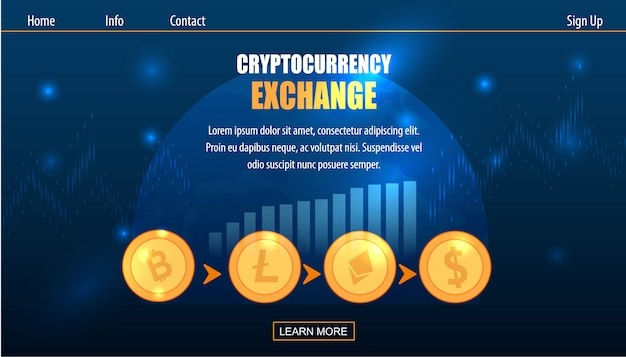 Scambio di cryptocurrency su fiat money