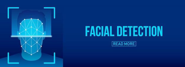 Scansione biometrica di verifica facciale, identificazione.