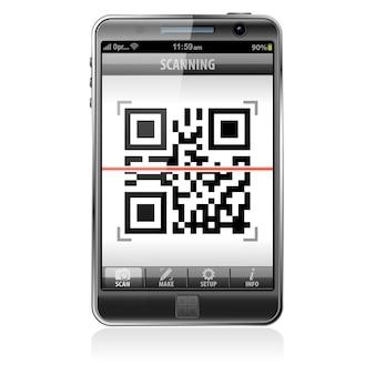 Scansione del codice qr su smartphone