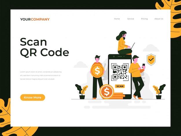 Scansione della pagina di destinazione del codice qr