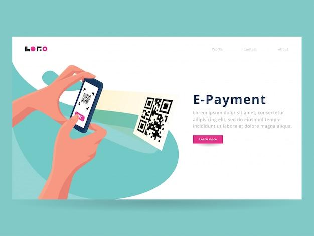 Scansione della pagina di destinazione del pagamento