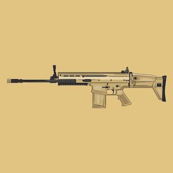 Scar weapon vector