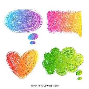 Scarabocchi colorati