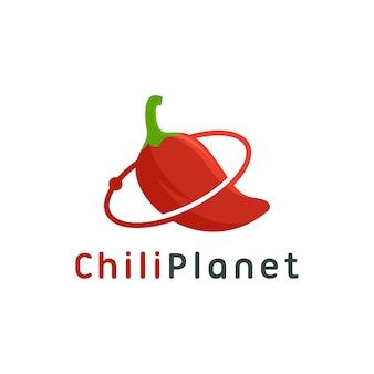Scarica il modello di peperoncino pianeta logo