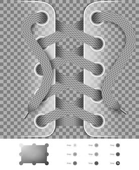 Scarpe di pizzo con facile ricolorazione seleziona lo stesso colore su trasparente
