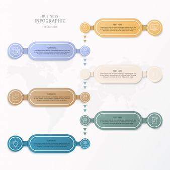 Scatola colorata per infografica di affari.