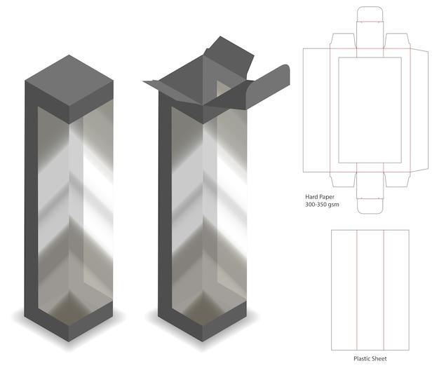Scatola con finestrino in plastica con dieline