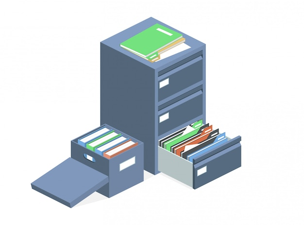 Scatola di archiviazione degli archivi dei file cabinet dei documenti