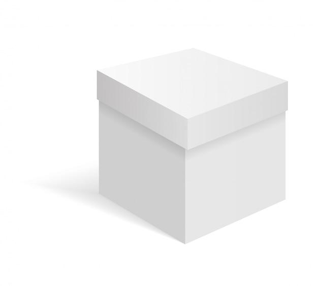 Scatola di cartone bianca vuota