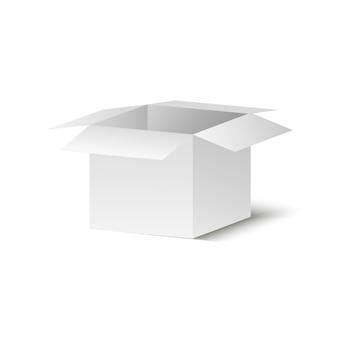 Scatola di corton su uno sfondo trasparente. illustrazione di un regalo o pacco.