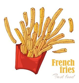 Scatola di patatine fritte.