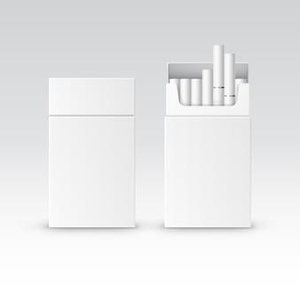Scatola di sigarette pacchetto pacchetto vuoto vettoriale isolato su sfondo bianco