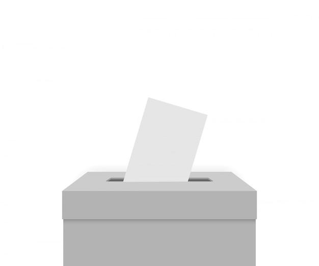 Scatola elettorale bianca