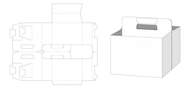 Scatola per l'imballaggio della birra e modello fustellato del supporto trasportato