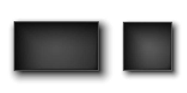 Scatole aperte nere su fondo bianco. illustrazione.