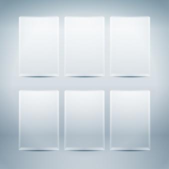 Scatole di vetro vuote