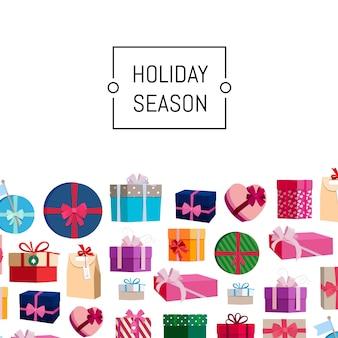 Scatole regalo o pacchetti con posto per il testo