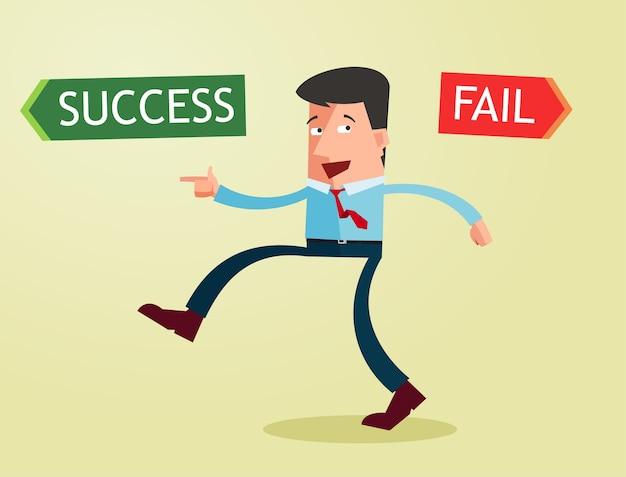 Scegli il tuo modo di diventare un uomo d'affari di successo