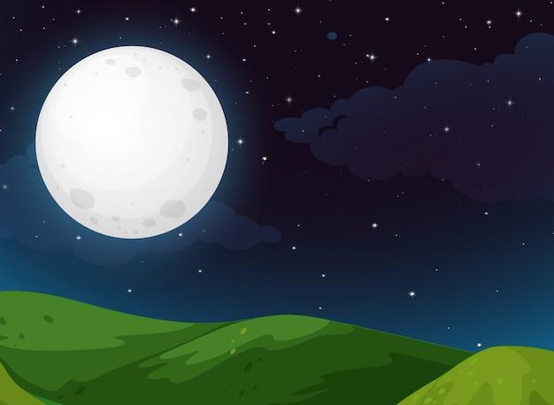 Scena al parco di notte