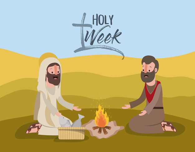Scena biblica della settimana santa