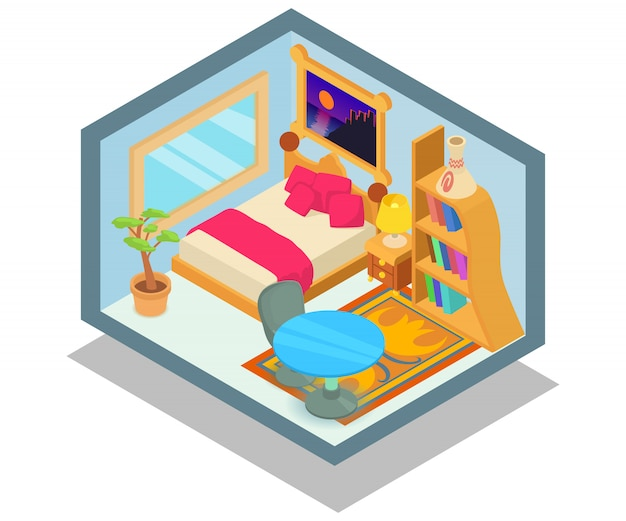 Scena del concetto di appartamento