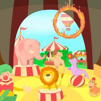 Scena del concetto di circo