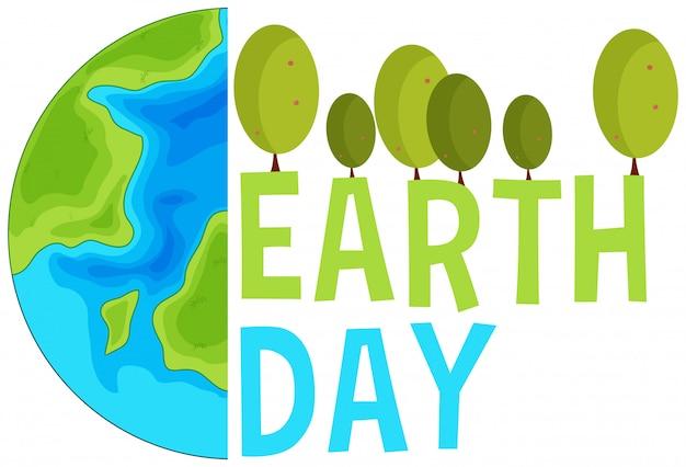 Scena del concetto di giornata della terra