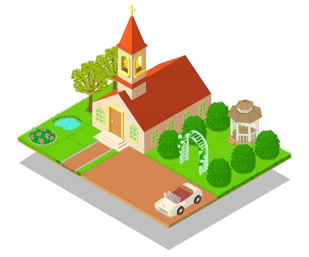 Scena del concetto rituale della chiesa
