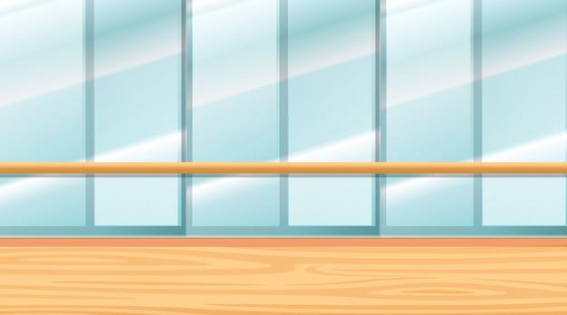 Scena del fondo di stanza con le finestre
