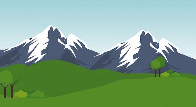 Scena del paesaggio del parco