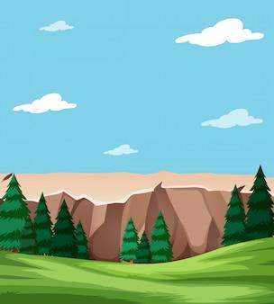 Scena del paesaggio naturale bella