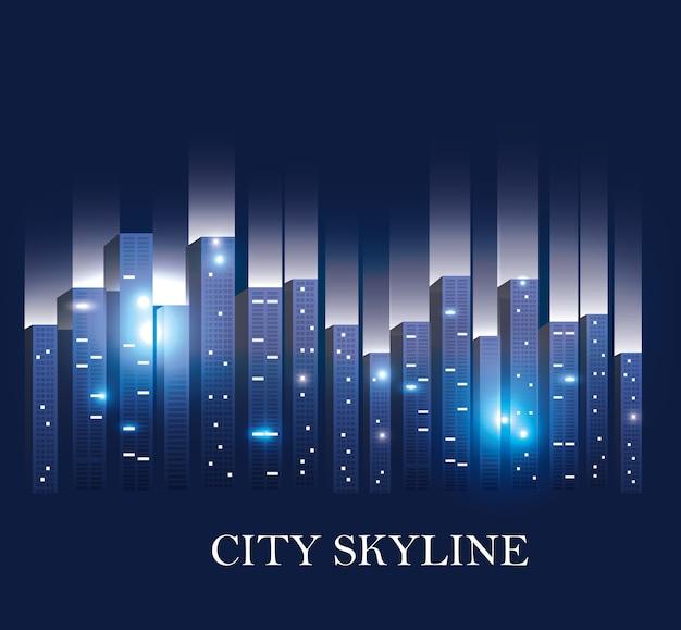 Scena della città di notte
