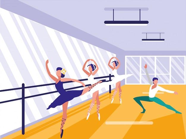 Scena della scuola di balletto