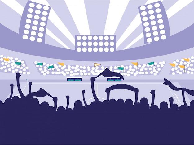 Scena dello stadio di calcio di calcio