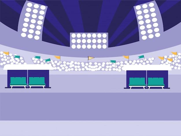 Scena dello stadio