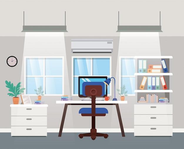 Scena di capo ufficio moderno